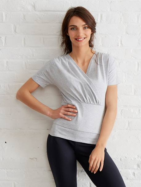 Women's Skin to Skin Nursing T-Shirt Grey marl