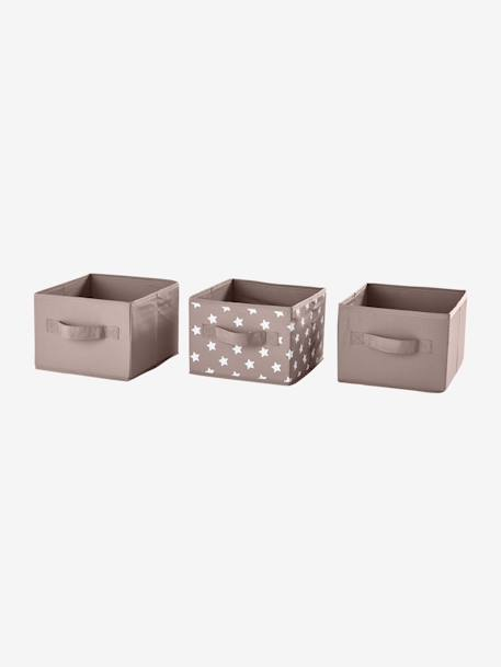 Set of 3 storage boxes Pink pack+Taupe pack