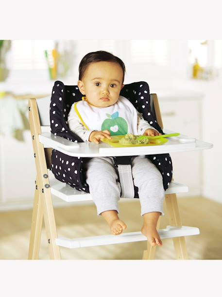Progressive Wooden High Chair Grey+White / natural