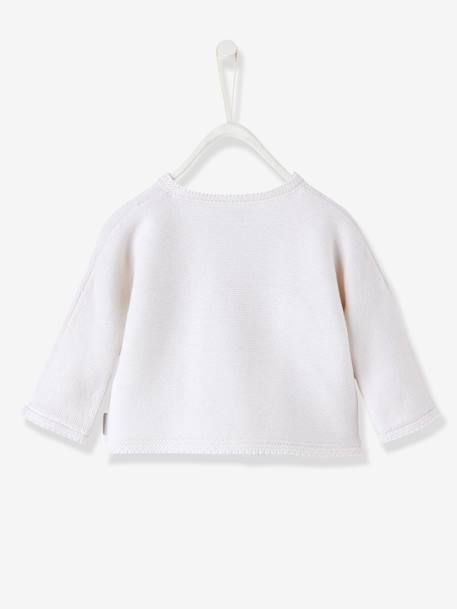 Organic Collection Cotton & Wool Baby Top Ivory