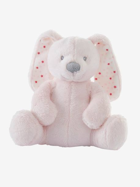 Musical Plush Bunny Soft Toy Grey+Pink+White