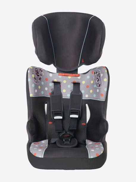 Car Seat - Group 1-2-3 Charcoal / grey dots