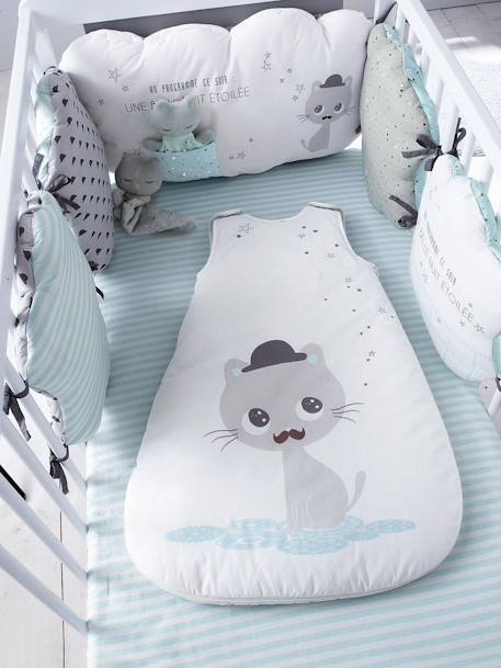 Printed Fitted Sheet, Cat Theme CATNIP