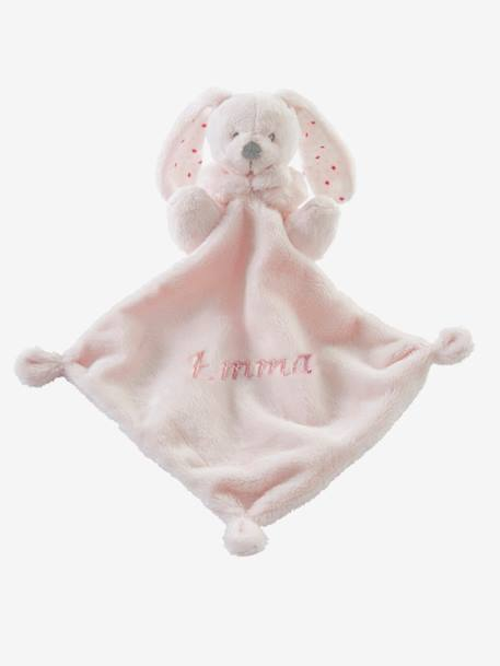 Plush Bunny Soft Toy and Blanket Gift Set Grey+Pink