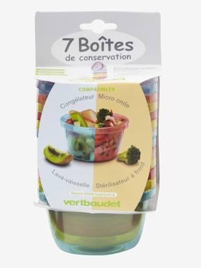 VERTBAUDET Set of 7 Food Storage Boxes muticolour