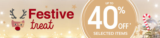 Festive Treat - up to 40% off* selected items