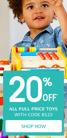 20% OFF* all full price toys with code 8123