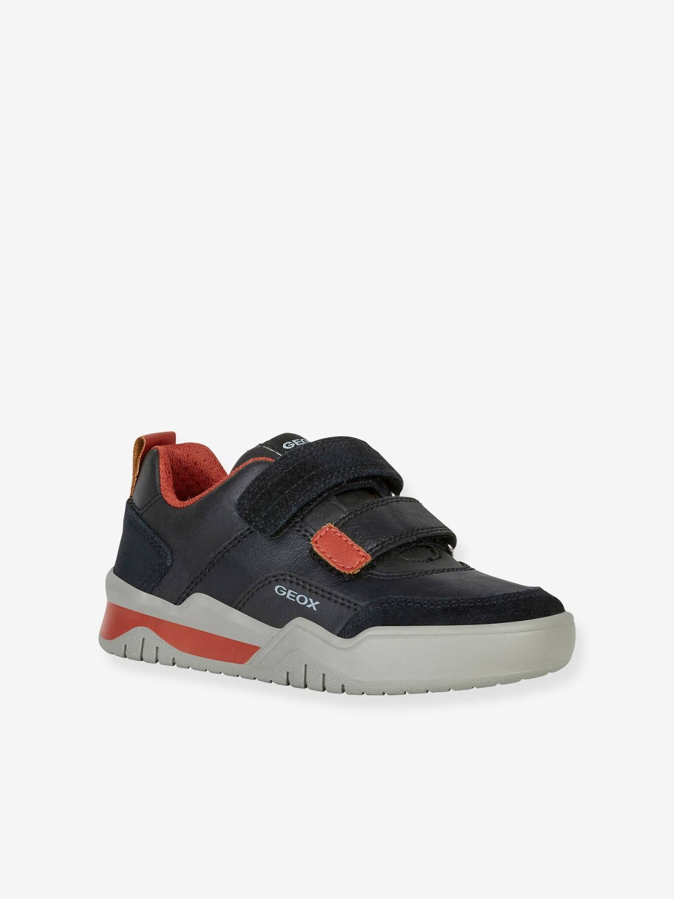 Volverse club Retocar  J Perth Boy C Trainers for Boys, by GEOX® - black dark solid with design,  Shoes | Vertbaudet