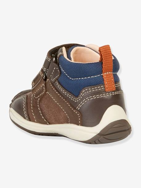 Toledo Boy B Trainers for Baby Boys, by GEOX® BROWN DARK SOLID WITH DESIGN
