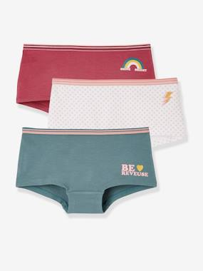 Click to view product details and reviews for Pack Of 3 Stretch Shorties For Girls Pink Light 2 Color Multicol R.