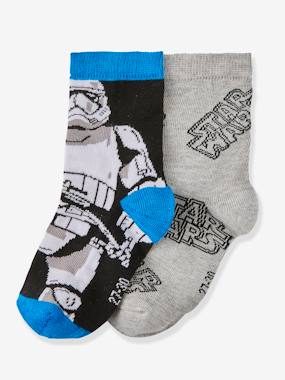 Click to view product details and reviews for Pack Of 2 Pairs Of Socks For Boys Star Wars® Grey Dark Solid With Design.