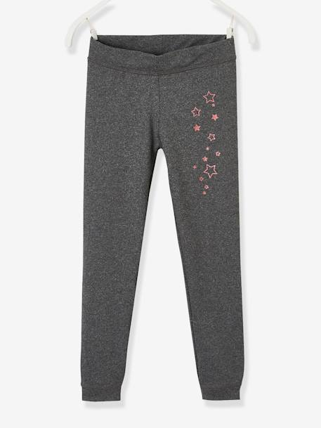 Girls Sports Leggings BLUE DARK SOLID WITH DESIGN+Dark grey+PINK LIGHT SOLID WITH DESIGN