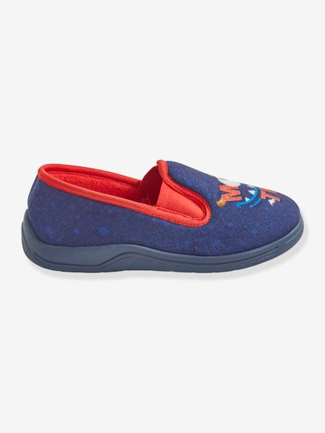 Elasticated Shoes, for Boys BLUE DARK SOLID WITH DESIGN