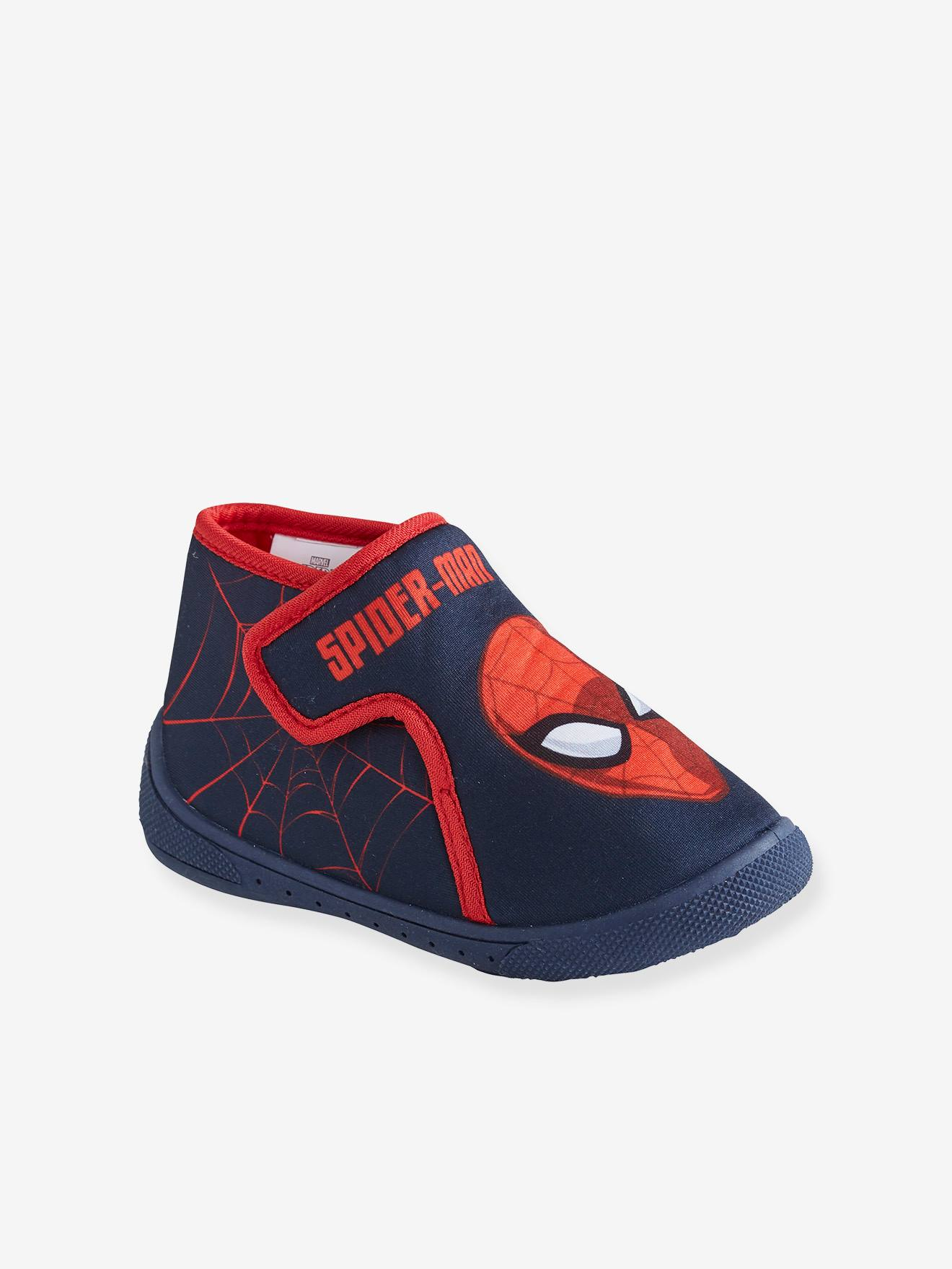 Slippers with Touch Fasteners for Boys, Spiderman® by Marvel - blue medium  solid with design, Shoes | Vertbaudet