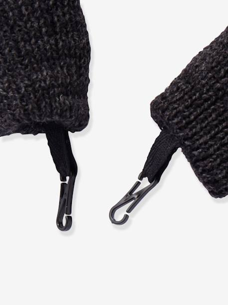 Fancy Knit Mittens, for Boys GREY DARK MIXED COLOR