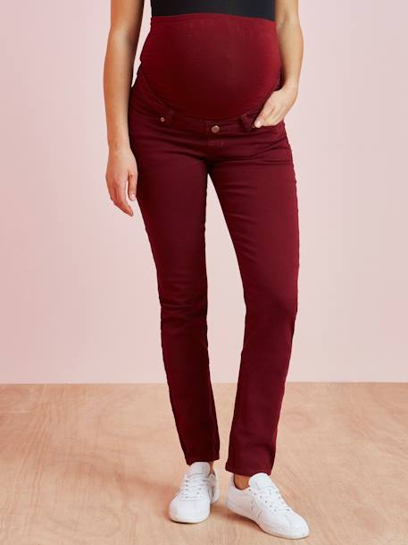 Slim Leg Jeans for Maternity RED MEDIUM WASCHED