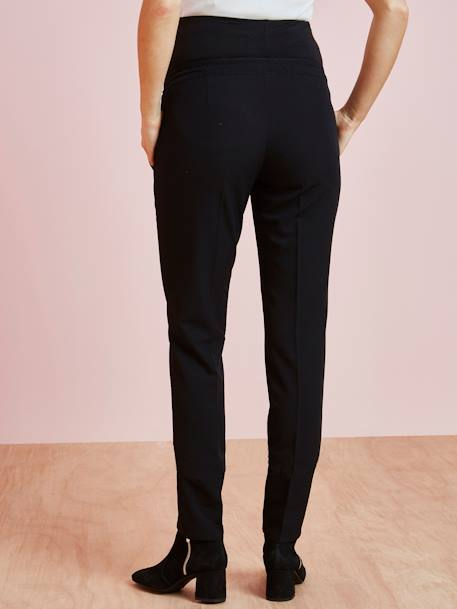 Maternity Cigarette Trousers BLACK DARK SOLID