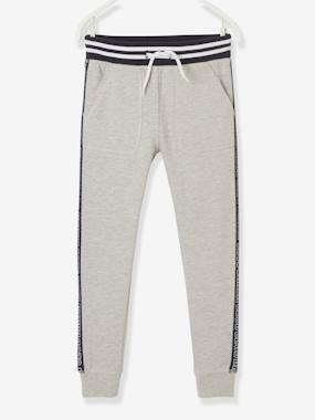 Click to view product details and reviews for Joggers With Panels On The Sides For Boys Grey Light Mixed Color.