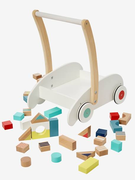 Walker with Construction Blocks WHITE MEDIUM SOLID WITH DESIGN
