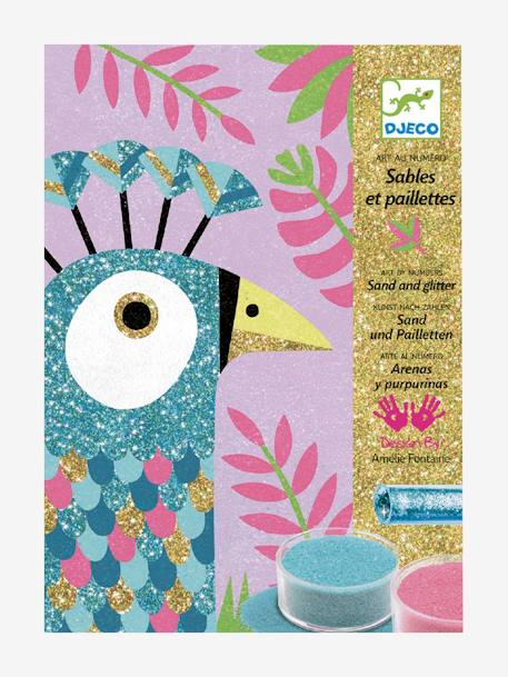 Sand & Glitter Dazzling Birds Workshop PURPLE LIGHT SOLID WITH DESIGN
