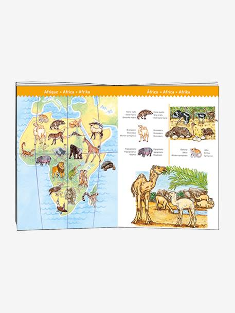 100-Piece Puzzle, Animals of the World, by DJECO BLUE LIGHT SOLID WITH DESIGN