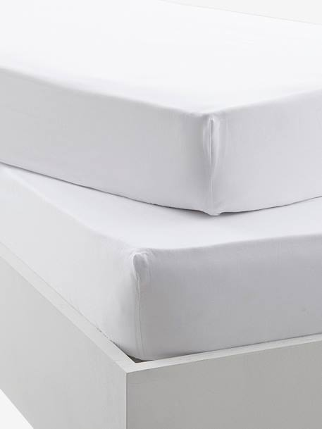 Pack of 2 Organic Collection Fitted Sheets 2 white