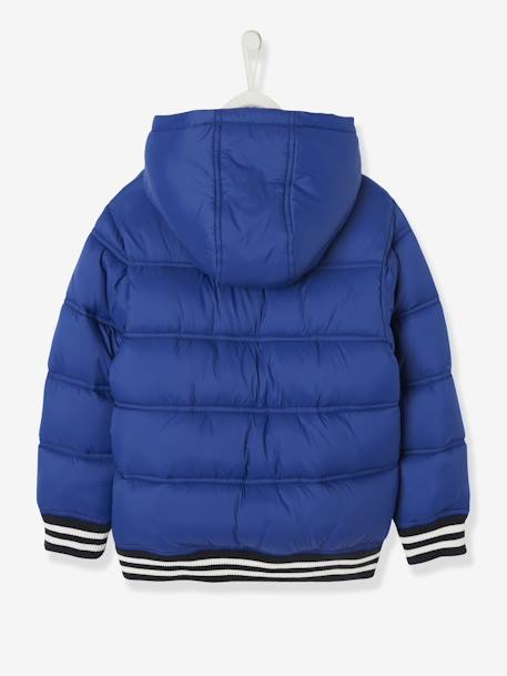 Jacket with Hood & Patch in Bouclé, for Boys BLUE DARK SOLID WITH DESIGN+BLUE MEDIUM SOLID WITH DESIGN+GREEN BRIGHT SOLID WITH DESIG+YELLOW DARK SOLID WITH DESIGN