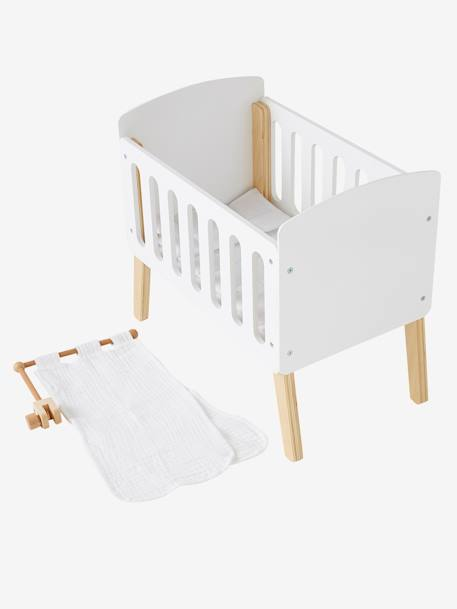 Canopy for Doll Bed WHITE BRIGHT SOLID