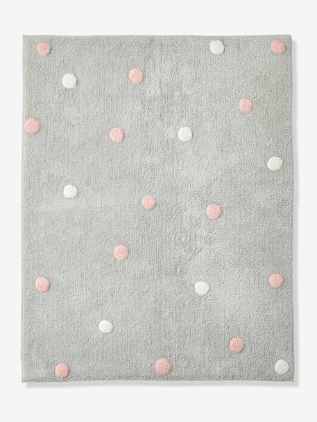 Washable Rug, Confetti GREY MEDIUM  ALL OVER PRINTED