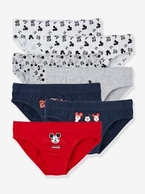 Pack Of 7 Mickey® Briefs Grey Medium Solid With Design