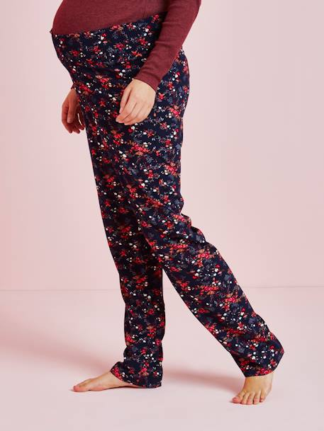 Printed Maternity Pyjama Bottoms BLUE DARK ALL OVER PRINTED
