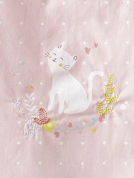 Sleeveless Sleep Bag, PETIT CHAT PINK LIGHT SOLID WITH DESIGN