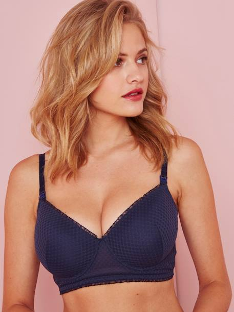 Lace Nursing Bra BLACK DARK SOLID+BLUE DARK SOLID+WHITE MEDIUM SOLID