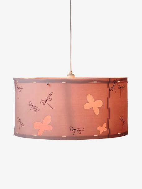 Butteflies & Dragonflies Ceiling Lampshade Blush / dragonflies