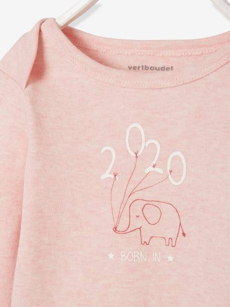 Long-Sleeved Bodysuit with Elephant Motif for Babies GREY LIGHT MIXED COLOR+GREY MEDIUM MIXED COLOR+PINK MEDIUM MIXED COLOR
