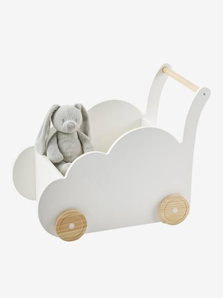 Box on Wheels, Cloud GREY MEDIUM SOLID+WHITE LIGHT SOLID WITH DESIGN