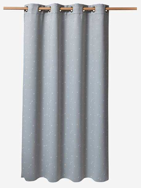 Glow-In-The-Dark Blackout Curtain Grey/white