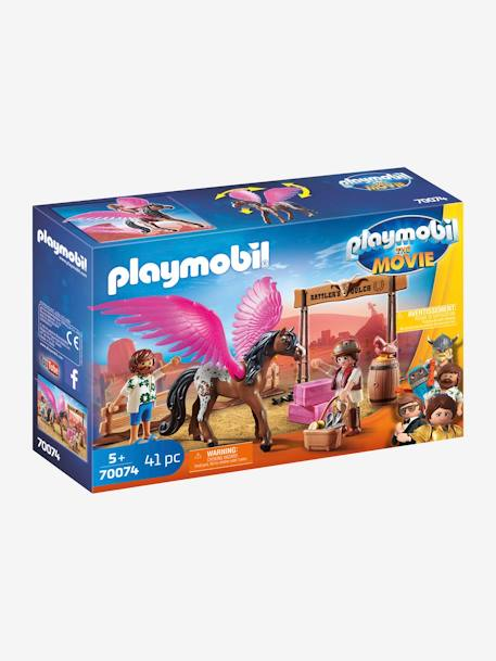 70074 THE MOVIE Marla and Del with Flying Horse, by PLAYMOBIL BROWN MEDIUM SOLID WITH DESIGN
