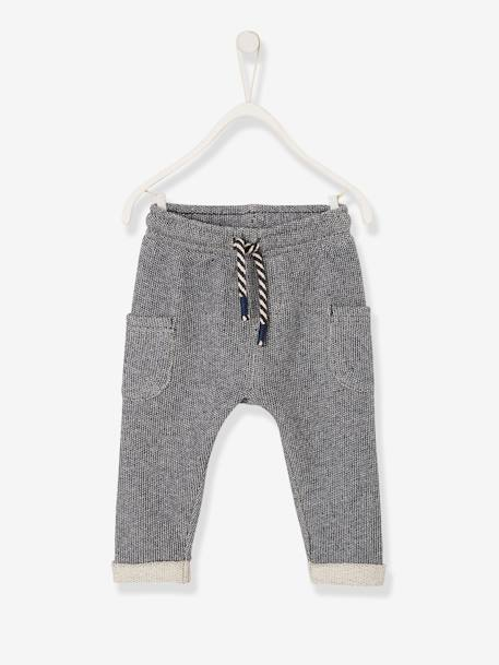Top & Trouser Outfit, for Baby Boys WHITE LIGHT SOLID WITH DESIGN