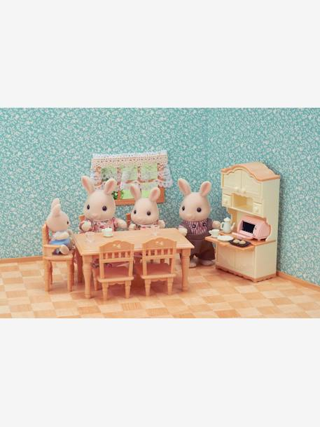 5340 - Dining Room Set, by SYLVANIAN FAMILIES BEIGE DARK SOLID WITH DESIGN