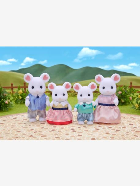5308 - Marshmallow Mouse Family, by SYLVANIAN FAMILIES WHITE MEDIUM SOLID