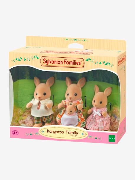 5272 - Kangaroo Family, by SYLVANIAN FAMILIES ORANGE LIGHT SOLID WITH DESIGN