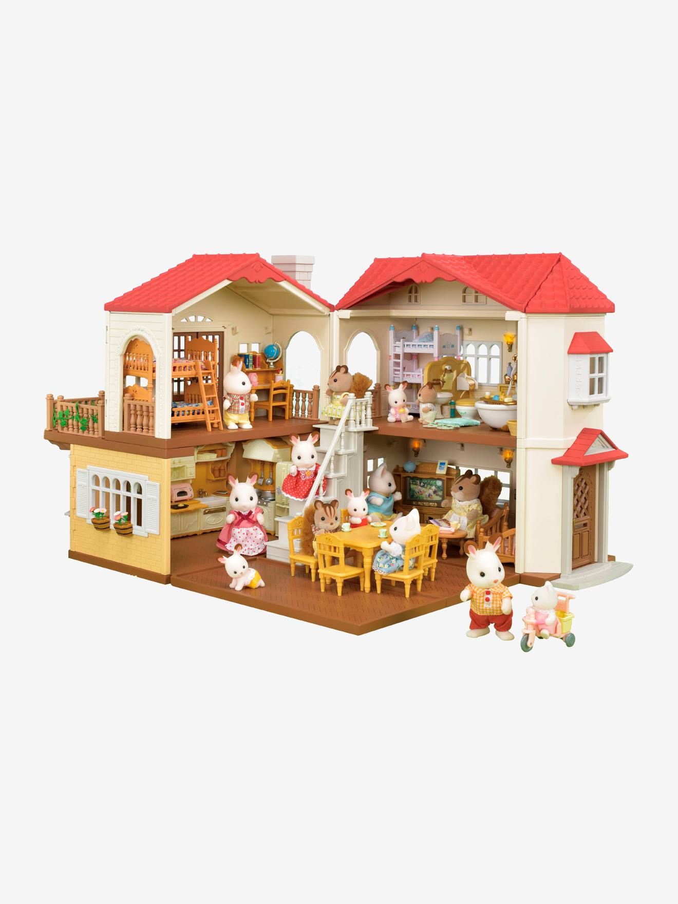2752 City House With Lights Sylvanian Families Brown Medium Solid Toys Vertbaudet