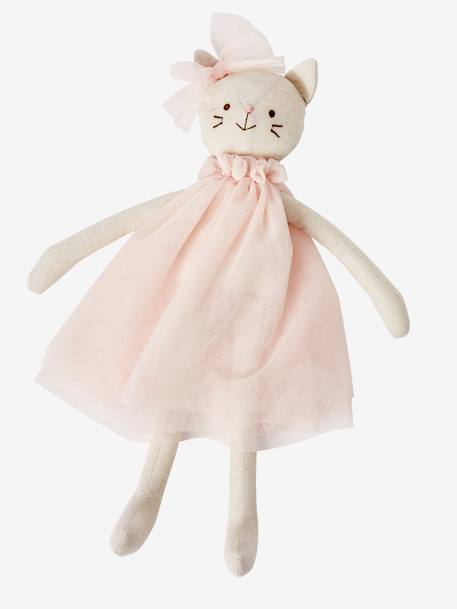 Dancing Cat Doll PINK MEDIUM SOLID WITH DESIG