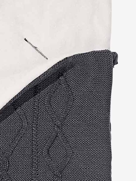 Cable Knit Footmuff Charcoal