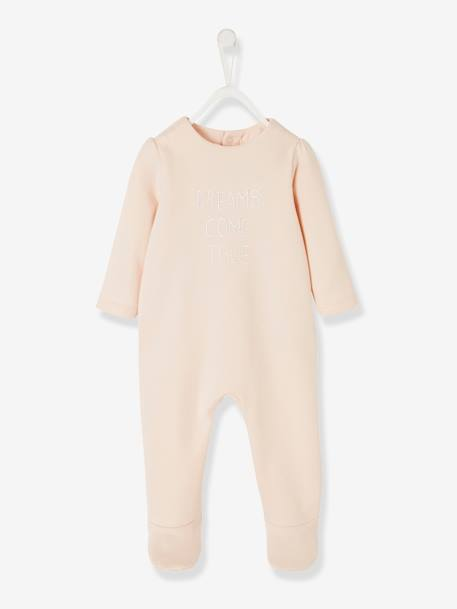 Pack of 2 Fleece Sleepsuits, for Babies PINK MEDIUM 2 COLOR/MULTICOL