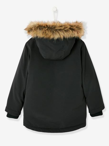 Parka with Hood, for Boys BLACK DARK SOLID WITH DESIGN+GREEN DARK SOLID WITH DESIGN