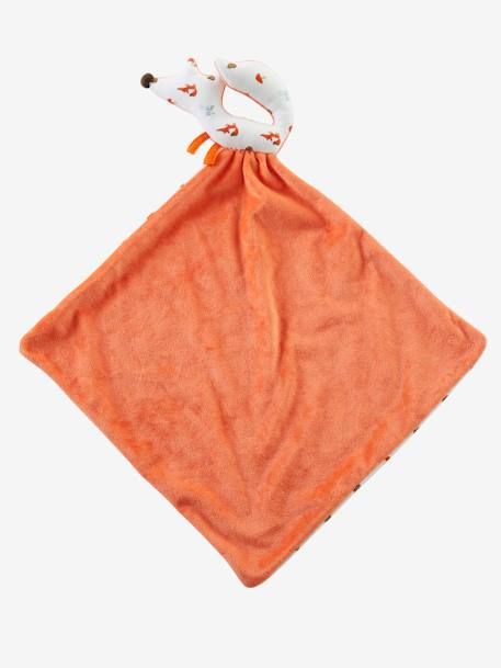 Fox Rattle & Blanket Gift Set Orange