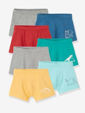 Click to view product details and reviews for Pack Of 7 Stretch Boxers For Boys Dinos Green Medium 2 Color Multicolr.