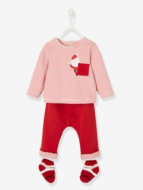 Click to view product details and reviews for 3 Item Set Christmas Special For Babies Red Dark Solid With Design.